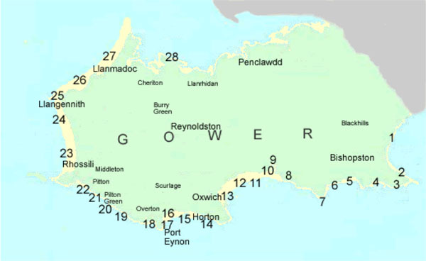 Gower beaches