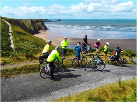 cycling in the gower